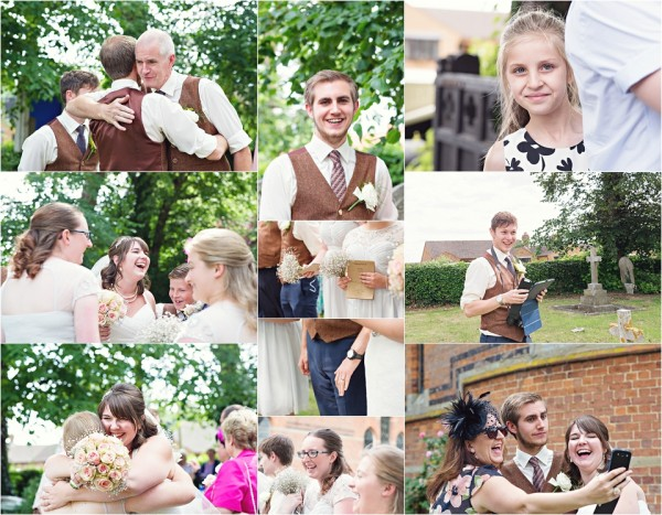 parson drove wedding ceremony, candid moments