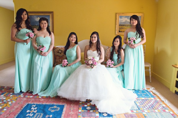 Bridal Party, The Old Hall, Ely, Wedding