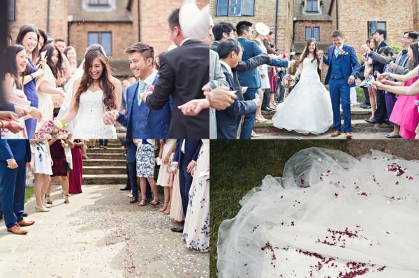 Confetti, The Old Hall, Ely, Wedding
