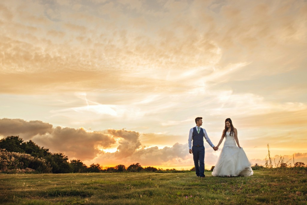 Sunset, The Old Hall, Ely, Wedding