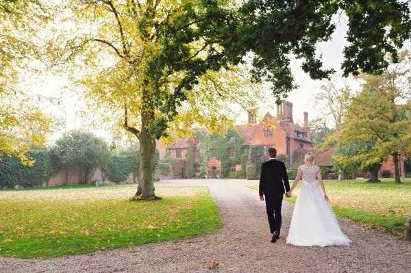 Bride and Groom - Woodhall Manor Wedding