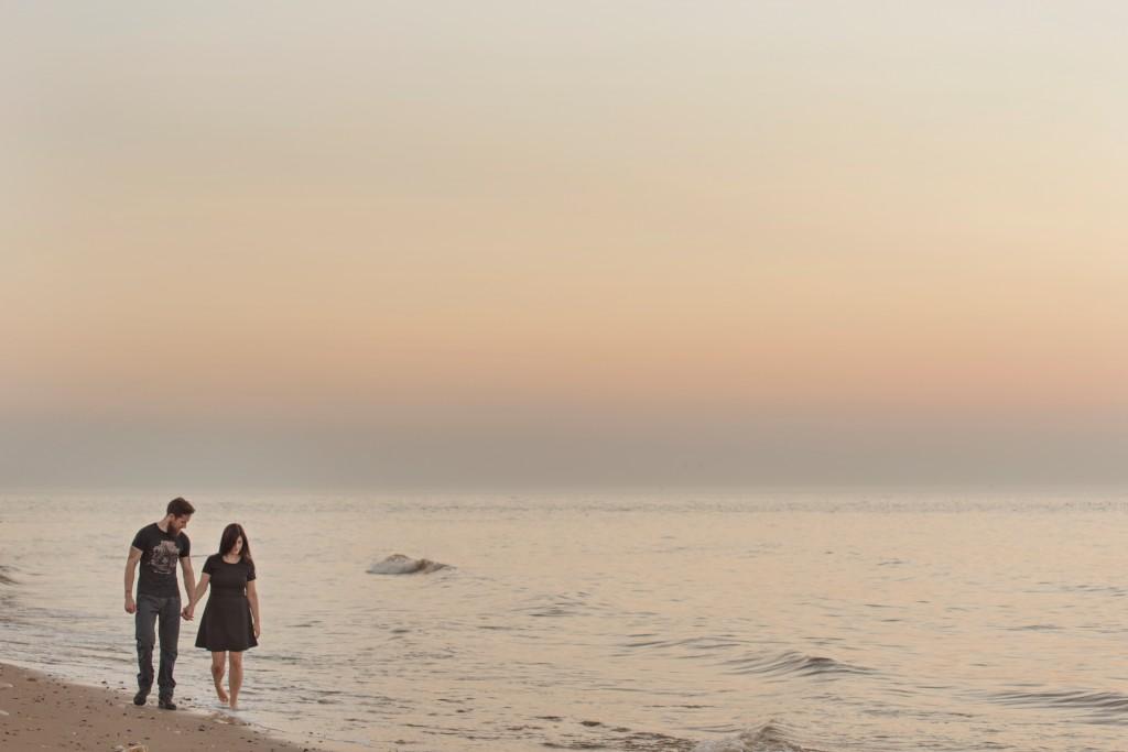 Pre-Wedding Shoot. Sunset at the beach