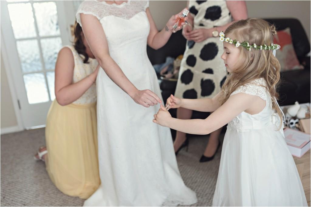 bride prep, doddington hall wedding