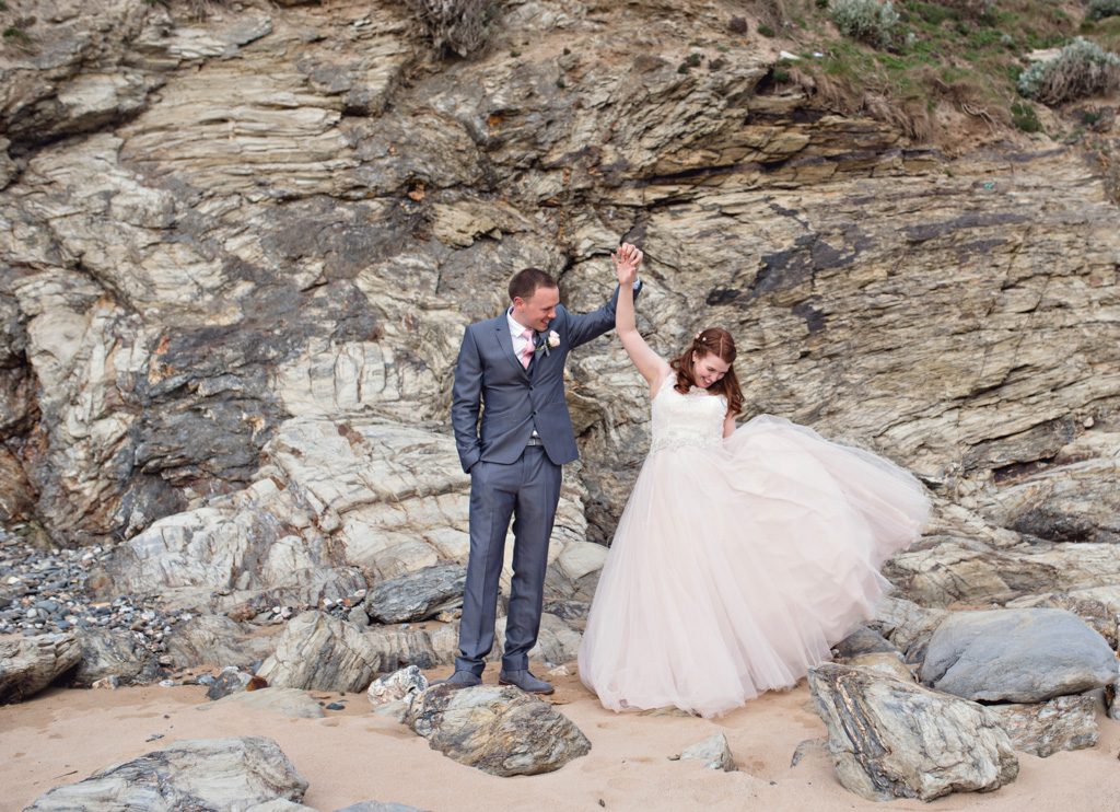 the scarlet cornwall elopement wedding photography