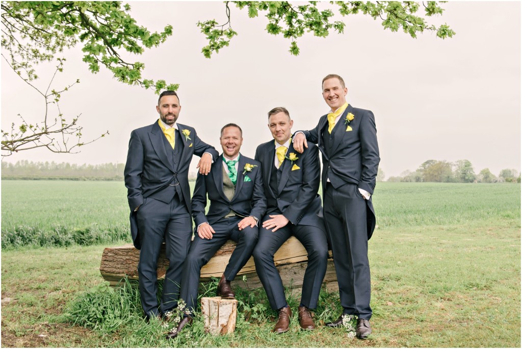 The Red Barn Wedding Groomsmen